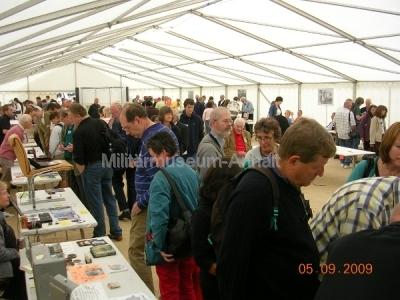 <p>Sonderausstellung Chiffriertechnik - an beiden Tagen drängten viele Besucher in die Ausstellung.</p>