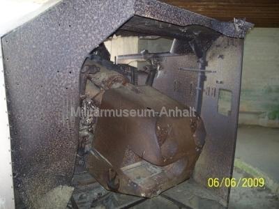 <p>Im Geschützbunker einer deutschen Batterie bei Longnes sur Mer.</p>