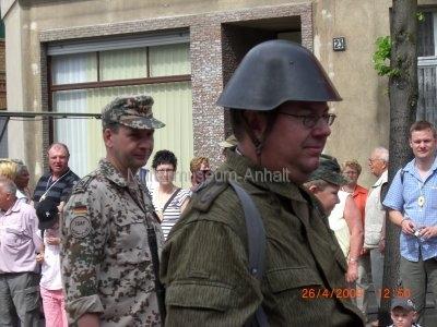 <p>Teilnahme am Umzug Flämingfest in Coswig 2009 - Darstellung der Militärgeschichte in Anhalt</p><p>NVA und Bundeswehr</p>