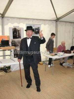 <p>Sonderausstellung Chiffriertechnik - auch Winston Churchill besuchte die Ausstellung</p>