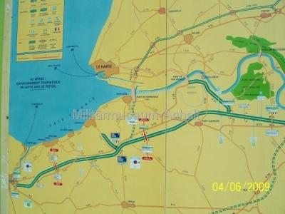 <p>Die Fahrt ging über Köln, durch Belgien in die Normandie.</p>