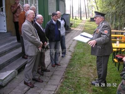 <p>Sonderausstellung Herbst 2008</p><p>Laudatio zum 65. Geburtstag Oberst a.D. Winkelmann</p>