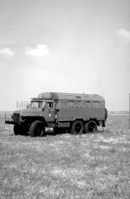 <p>Der mobile Funkaufklärungsgerätesatz FuAGS-1 auf URAL 375D.</p>