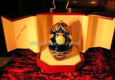 <p>Sonderausstellung Chiffriertechnik - Während des VIP-Abends wurden die eigens für den Bletchley Park angefertigten Fabergé-Eier vorgestellt und gezeigt.</p>