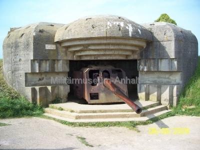 <p>Geschützbunker einer deutschen Batterie bei Longnes sur Mer.</p>