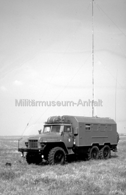 <p>Funkaufklärungsgerätesatz FuAGS-1M auf URAL 375D.</p>