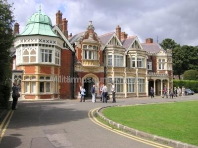 <p>Das ehemalige Verwaltungsgebäude im Bletchley Park wird heute als Veranstaltungszentrum genutzt.</p>