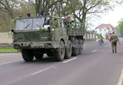 <p>Die Kolonne bestand aus Fahrzeugen vom Melderkrad bis zum schweren Tatra.</p>